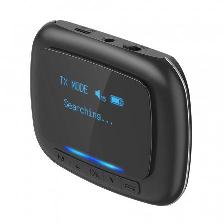 Emitator & receiver BlitzWolf BW-BR6, Bluetooth 5.0, aptX, SBC, AAC, display OLED, port audio 3.5mm, 500mAh [1]