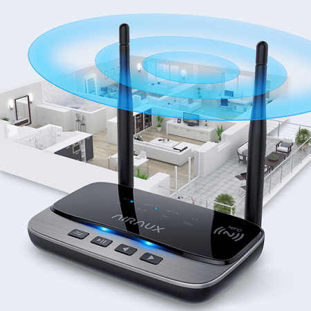Emitator & receiver bluetooth 5.0 BlitzWolf AA-BT3, NFC, HD audio, 1000 mAh [1]
