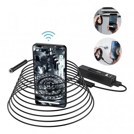 Camera endoscop BlitzWolf BW-YPC110, 10 metri lungime, Wi-Fi, waterproof IPX7, aplicatie dedicata, 1200P HD, 600mAh [1]