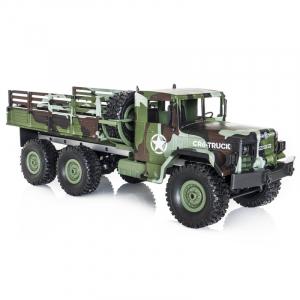 Funtek CR6, camion RC militar 6x6 cu telecomanda 2.4Ghz, camuflaj, 700mAh, 1:16, lumini LED, 25min autonomie4