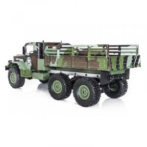 Funtek CR6, camion RC militar 6x6 cu telecomanda 2.4Ghz, camuflaj, 700mAh, 1:16, lumini LED, 25min autonomie3