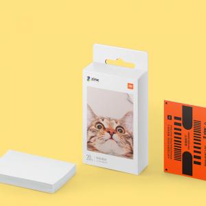 Hartie foto Xiaomi Zink pentru imprimanta portabila, 2 x 3 inch, 20 bucati, cu strat adeziv1