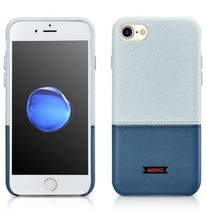 Husa XOOMZ protectie spate, handmade, pentru iPhone 7/8 din piele sintetica, albastru/bleu1