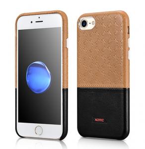 Husa XOOMZ protectie spate, handmade, pentru iPhone 7/8 din piele sintetica, maro/negru0