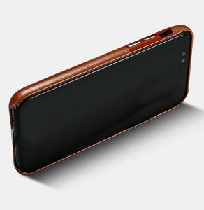Husa slim ICARER Transformer pentru iPhone X, protectie camera, din piele naturala, vintage, maro2