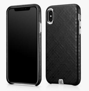 Husa slim ICARER Transformer pentru iPhone X, protectie camera, din piele naturala, vintage, neagra0