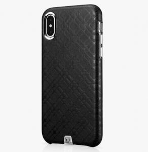 Husa slim ICARER Transformer pentru iPhone X, protectie camera, din piele naturala, vintage, neagra1