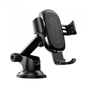 Suport & incarcator auto wireless Baseus, QI, rotire 360 grade, max 10 wati, prindere cu ventuza0