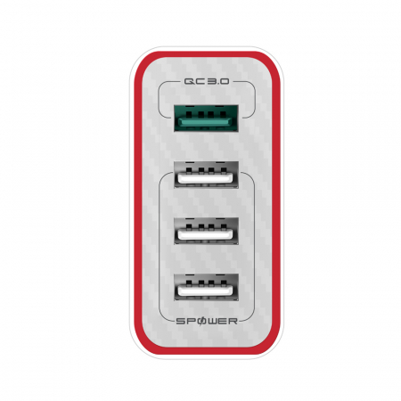Incarcator rapid Blitzwolf BW-PL5, 4 x USB, Quick Charge 3.0, Huawei FCP, Power3S, 35W, multiple protectii integrate, EU [2]