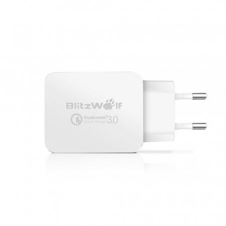 Incarcator de retea USB Blitzwolf BW-S5, Quick Charge 3.0, 18W, Alb [2]