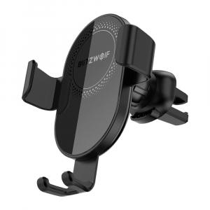 Suport & Incarcator auto wireless Blitzwolf BW-CW1, certificat QI, quick charge, max 10 wati, ajustare 360 grade1