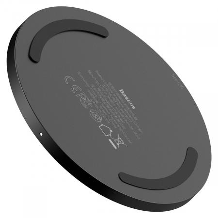 Incarcator wireless Baseus simple cu magnet, 15W, suporta incarcare QC & PD, USB-C, Negru [2]