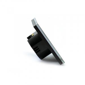Intrerupator dublu smart Vhub cu touch, panou sticla, Wifi integrat 2.4GHz, compatibil Google & Alexa, negru6