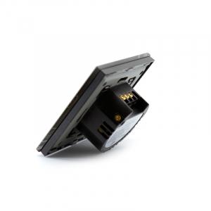 Intrerupator dublu smart Vhub cu touch, panou sticla, Wifi integrat 2.4GHz, compatibil Google & Alexa, negru2