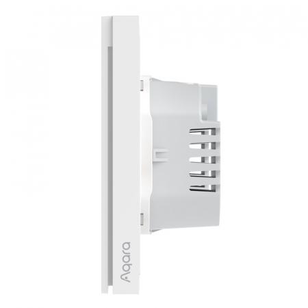 Intrerupator incastrat Aqara H1 dublu, cu nul, model 2021, Zigbee 3.0, versiune europeana, compatibil Aqara Home, Homekit, Google Home, IFTTT [1]