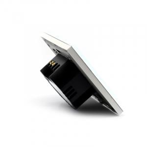 Intrerupator smart Vhub cu touch, panou sticla, Wifi integrat 2.4GHz, compatibil Google & Alexa, alb3