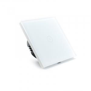 Intrerupator smart Vhub cu touch, panou sticla, Wifi integrat 2.4GHz, compatibil Google & Alexa, alb2