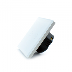 Intrerupator dublu smart Vhub cu touch, panou sticla, Wifi integrat 2.4GHz, compatibil Google & Alexa, alb4
