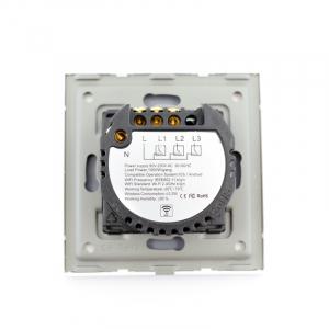Intrerupator dublu smart Vhub cu touch, panou sticla, Wifi integrat 2.4GHz, compatibil Google & Alexa, alb6