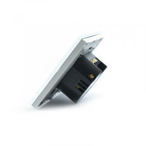 Intrerupator dublu smart Vhub cu touch, panou sticla, Wifi integrat 2.4GHz, compatibil Google & Alexa, alb5