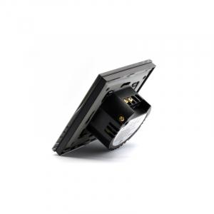 Intrerupator smart Vhub cu touch, panou sticla, Wifi integrat 2.4GHz, compatibil Google & Alexa, negru3