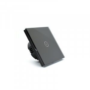 Intrerupator smart Vhub cu touch, panou sticla, Wifi integrat 2.4GHz, compatibil Google & Alexa, negru4