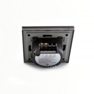 Intrerupator smart Vhub cu touch, panou sticla, Wifi integrat 2.4GHz, compatibil Google & Alexa, negru6