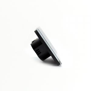 Intrerupator smart Vhub cu touch, panou sticla, Wifi integrat 2.4GHz, compatibil Google & Alexa, negru5