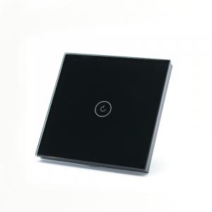 Intrerupator smart Vhub cu touch, panou sticla, Wifi integrat 2.4GHz, compatibil Google & Alexa, negru1