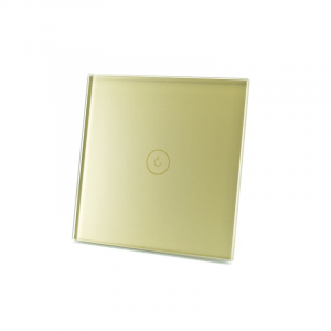 Intrerupator smart Vhub cu touch, panou sticla, Wifi integrat 2.4GHz, compatibil Google & Alexa, gold5