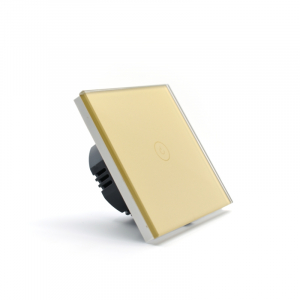 Intrerupator smart Vhub cu touch, panou sticla, Wifi integrat 2.4GHz, compatibil Google & Alexa, gold3