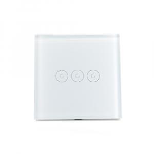 Intrerupator triplu smart Vhub cu touch, panou sticla, Wifi integrat 2.4GHz, compatibil Google & Alexa, alb2