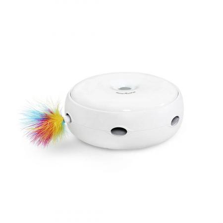 Jucarie smart pentru pisici Homerunpet CT10, 3 moduri de setare, pene curcan naturale, indicator LED [0]