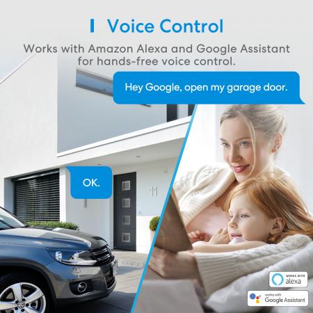 Kit smart automatizare si control usa garaj Merros varianta europeana, WiFi, compatibil Homekit, Google Home, Alexa, SmartThings, IFTTT3