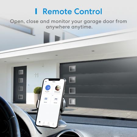 Kit smart automatizare si control usa garaj Merros varianta europeana, WiFi, compatibil Homekit, Google Home, Alexa, SmartThings, IFTTT1