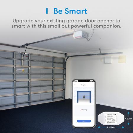 Kit smart automatizare si control usa garaj Merros varianta europeana, WiFi, compatibil Homekit, Google Home, Alexa, SmartThings, IFTTT2