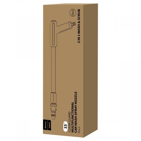 Kit pentru spalare auto Baseus 2 in 1, lance + mop, lungime furtun telescopic 15 metri, alimentare la retea apa, 3 conectori inclusi7