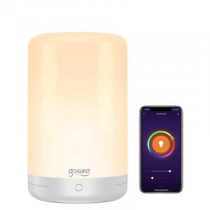 Lampa de noapte LED smart Gosund LB3 cu touch, RGBW, 16 milioane culori, Wi-Fi, ecosistem Smart Life, compatibila Google Home, Alexa0