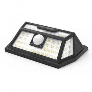 Lampa solara Blitzwolf de perete cu senzor de miscare si lumina, 2200mAh, 350 lumeni, 62 LED-uri, IP64, 6500K1