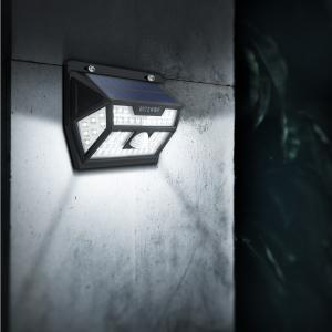 Lampa solara Blitzwolf de perete cu senzor de miscare si lumina, 2200mAh, 350 lumeni, 62 LED-uri, IP64, 6500K4