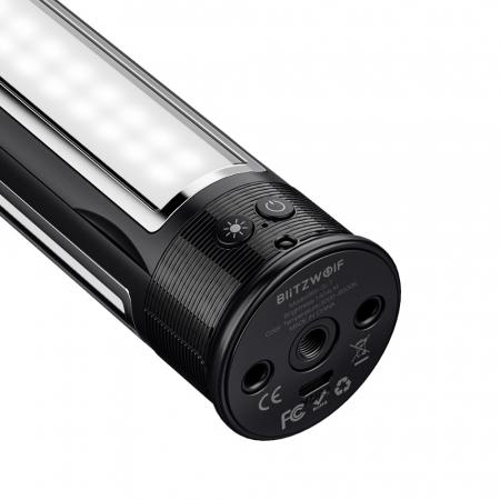 Lampa LED portabila multifunctionala Blitzwolf BW-SL7, 3 surse de lumina, 2850mAh, intensitate & temperatura culoare ajustabile [2]
