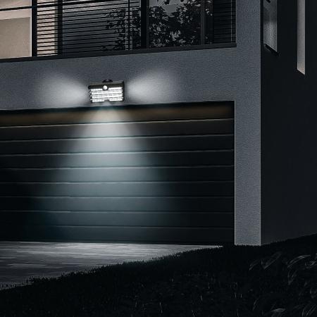 Lampa LED solara Baseus pentru exterior, senzor de miscare, 89 LED-uri, IPX5,1200 mAh4