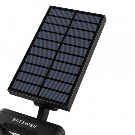 Lampa solara LED Blitzwolf OLT5 pentru gradina, auto RGB plus lumina alba, 1800mAh, waterproof IP44, pana la 15h autonomie2