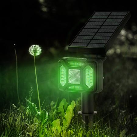 Lampa solara LED Blitzwolf OLT5 pentru gradina, auto RGB plus lumina alba, 1800mAh, waterproof IP44, pana la 15h autonomie3