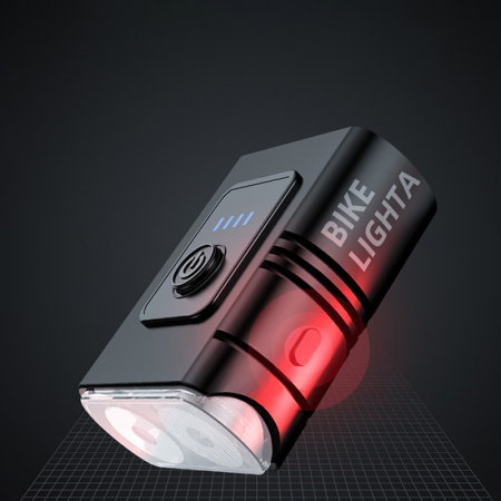 Lanterna bicicleta Supfire GT-R2, 2 reflectoare, 1 lumina rosie de avertizare, 1200mAh, waterproof [1]