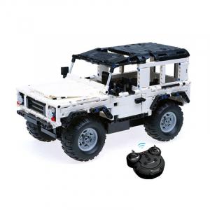 Set constructie Jeep Land Rover, masinuta cu telecomanda, 2,4 GHz, 533 piese compatibile LEGO, 400mAh0