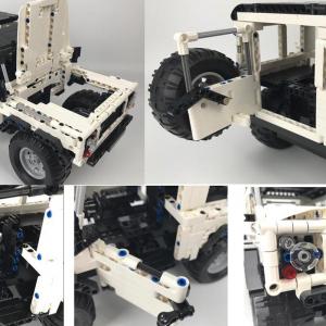 Set constructie Jeep Land Rover, masinuta cu telecomanda, 2,4 GHz, 533 piese compatibile LEGO, 400mAh1