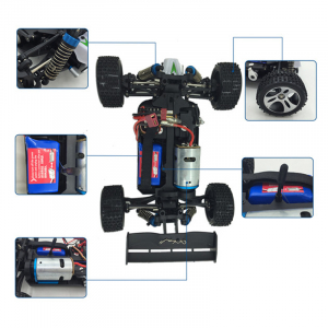 Masinuta RC cu telecomanda BUGGY Off Road, viteza 70Km/h, 2.4 Ghz, scala 1:18, 1400mAh, suspensii independente3