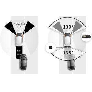 Oglinda retrovizoare cu camera 70mai, resigilata, Dash Cam Wide, 1080p, FOV 130°, varianta EU 20207