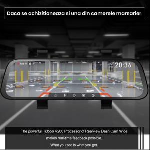 Oglinda retrovizoare cu camera 70mai, resigilata, Dash Cam Wide, 1080p, FOV 130°, varianta EU 20203